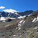 ab der SAC Hütte zieht sich der Weg durch eine Gerölllandschaft weit dahin  bis zum Vadret da Grialetsch - Gletscher