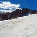 auf dem Gletscher mit Sicht zum Piz Vadret.