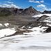 Rückblick den Gletscher hinunter
