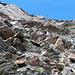 viele mehr oder weniger schwierige Wege schlängeln sich hier nach oben, was aber hier als griffiger Fels ausschaut sieht von oben so aus ..........