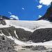 ein letzter Rückblick hinauf zum Gletscher