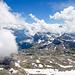Blick hiniab in die Karstebene oberhalb von Braunwald. Die meisten Gipfel sind hinter Quellwolken verwschwunden.