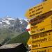 Die Lenzspitze Nordwand ist schon von Saas Fee aus sichtbar. Links daneben der Dom.
