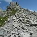 steiniger Abstieg