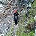 Versicherte Stelle im Abstieg zum Rinnensee - die Aasgesetztheit nach links kommt hier nicht wirklich rüber