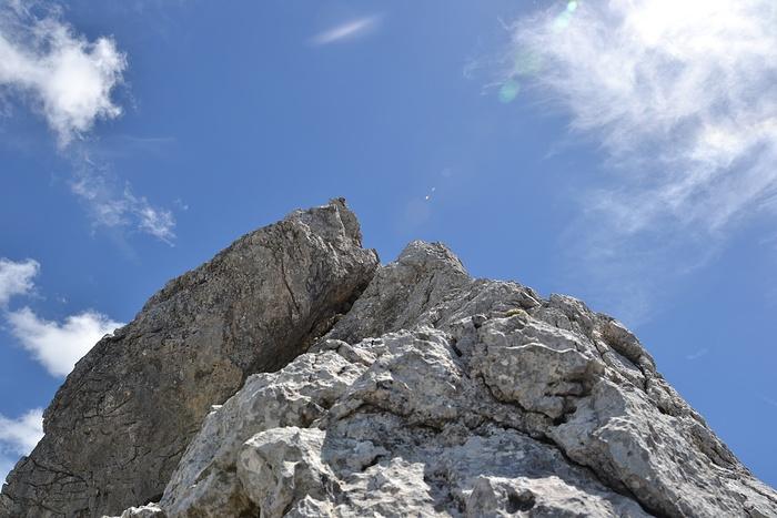 Einzige länger Kletterstelle