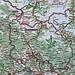Karte der Republik Südossetien. Einrahmt ist der von uns bestiegene 3938,1m hohe Landeshöhepunkt Халаца (Khalaca). Das einzige von uns besuchte südossetische Dorf Земо-Рока (Zemo-Roka) ist rot unterstrichen.