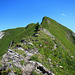 Der Grat im Abstieg vom Goldlochspitz.