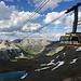 Die ersten Höhenmeter haben wir mit der Bergbahn  Diavolezza gemacht.