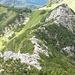 Der Westgrat zum Aiplspitz im Rückblick, die kleine Graterhebung ist das Tanzeck
