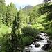 die Ova da Suvretta begleitet den Aufstieg bis Chaschigna