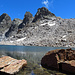 kleiner Bergsee mit Piz Radönt