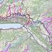 Map über meine schon begangenen Touren in dieser Region