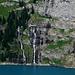 Wasserfälle am Oeschinensee.