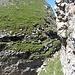 Im Schartl. Hier sieht man auch den nicht mehr schwierig zu begehenden Gipfelhang der Abgelösten Gauschla.