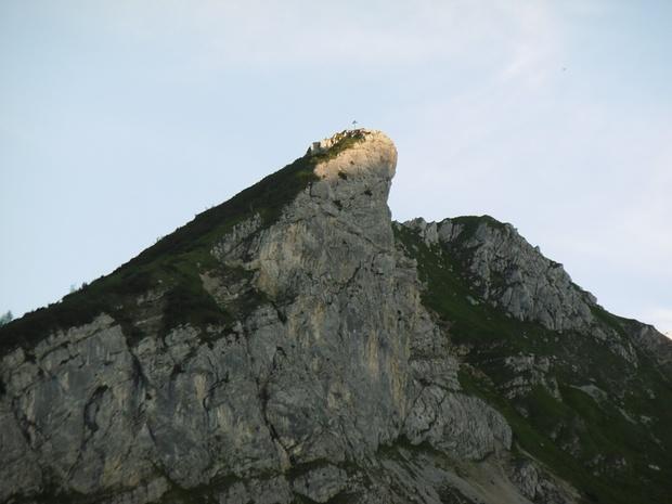 Rückblick beim Abstieg zum Bernadeinsteig.