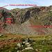 La via di salita (indicata anche da [u danicomo]) indicata con ometti