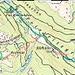 Karte, ROT Aufstieg, GRÜN Abfahrt