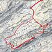 Routenverlauf ab Meglisalp<br /><br />Quelle: SchweizMobil