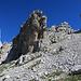 schöne Felsaufschwünge auf dem Weg zum Drusator hinauf.