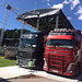 .. und ebenso eindrückliche Trucks für Lautsprecheranlage und Stromversorgung.