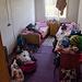 Unser Zimmer - ein Schlachtfeld, welches wir später aufräumen