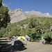 Am Camp Alaudin auf etwa 2900m. Nach rechts geht es hier zum Alaudinpaß hoch.