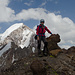 Gipfelbild mit Small Ganza im Hintergrund.