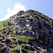 Kettengesicherter Abstieg vom Augstmatthorn