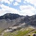Blick vor Chienegg aufs Schilthorn mit den steilen Hängen zum Sattel