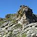 die entschärfte und gesicherte Steilstufe an der Cima di Precastello