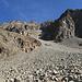 oben ist der Grat sichtbar, auf dem der Wanderweg zum Piz Güglia/Piz Julier führt