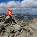 Aussicht vom Gipfel Piz Güglia / Piz Julier, für die totale Fernsicht war das Wetter zuwenig gut.