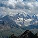 das Wetter über der Berninagruppe ändert sich andauernd