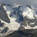 beim Abstieg kurz vor dem Ende der Tour kommt die Berninagruppe nochmals ins Blickfeld.
