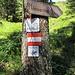 Wanderzeichen Via Alpina