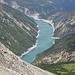 Tiefblick zum Lago di Livigno