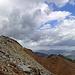 Kurz vor dem Gipfel plötzlich dunkle Wolken