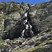 La cascata che scende dal Lago Nero