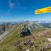 Gipfel Gros Van, mit Blick zum Mont d'Or