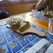 Antipasto con torta di spinaci e insalatina