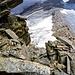 Passaggi molto esposti, sotto la cresta tutto in lunghezza che percorreremo fino al Zapportpass