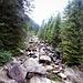 Attraversata su ponte del fiume di Campéi per attraversare la valle e risalirla fino al parcheggio di Saltadoi.