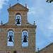 Glockenturm der Iglesia de San Nicolás in San Juan de Ortega