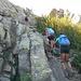 il facile canalino di accesso alla Bocca a Stazzona