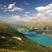 Blick vom P2486 zum Silvaplaner und Silser See
