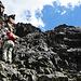 Die Kraxelstelle unterhalb des Gipfels auf ca. 3000 m