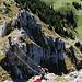 Rückblick am Klettersteig.