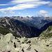 Valle di Pertus e, oltre, la Val di Peccia.