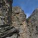 ...und ab geht es in die erste Senkrechte des Graustock Klettersteiges.